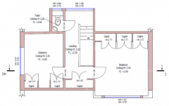 Private house. floor plan.