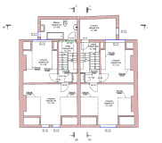 Apartment house. Floor plan.