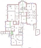 Nursing home. Floor plan.
