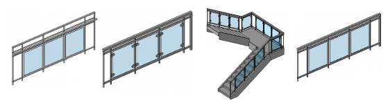revit glass railing family download