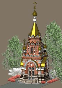 Russian сhapel Revit model.