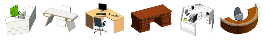Revit office furniture families download