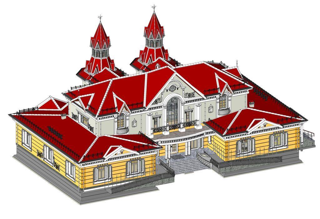 Revit model of railway station