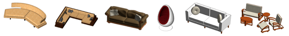 Revit sofas families download