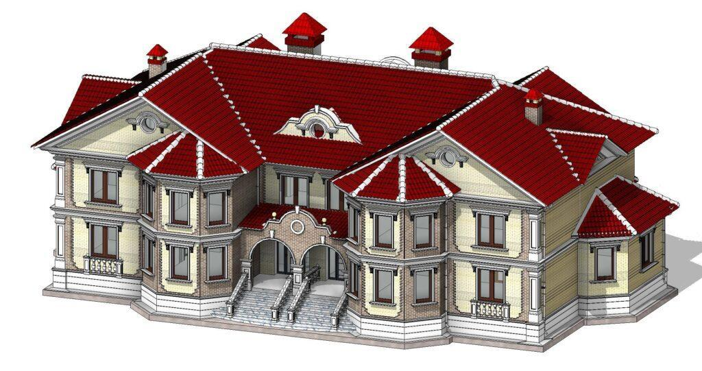 2-storey building project in Revit
