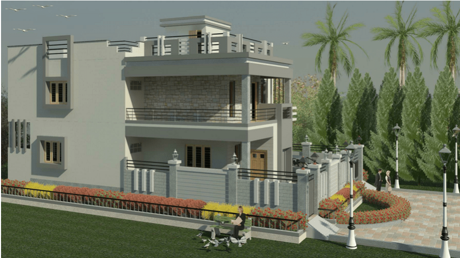 3 Storey Luxury Mansion 3D model