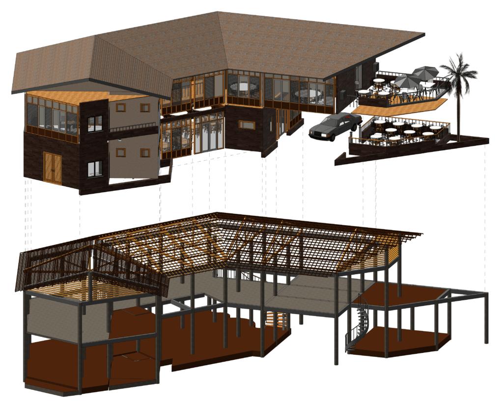 Revit 3D Building Structures